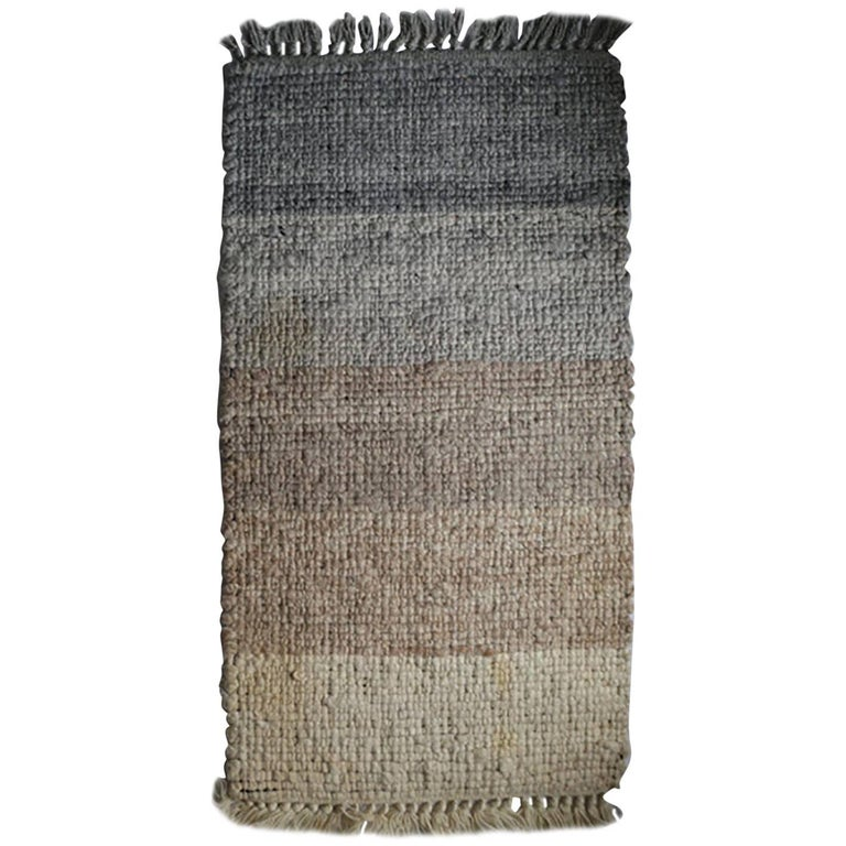 1970s Multi-Wool Salesmen Sample Throw Rug by Design Research For Sale
