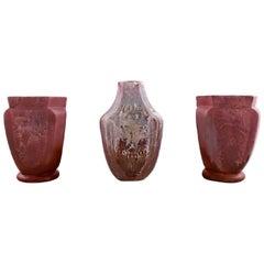 Three Kähler vases with luster glaze, Karl Hansen Reistrup.