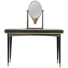 Oriette Dressing Table with Sodalite Stone and Corian, Handmade in Uk