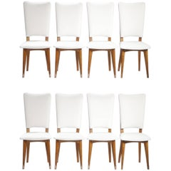 Set of 8 Scandinavian chairs 1960's