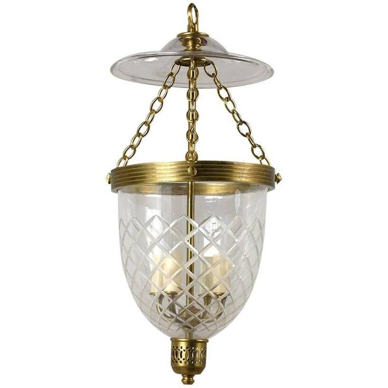 Contemporary Regency-Style Pendant Light For Sale