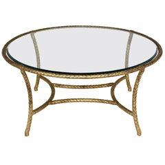 Mid-Century Modern Baguès Style Coffee Table