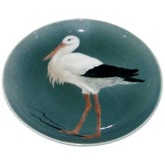 Bing and Grondahl Art Nouveau Wall Plate with Stork
