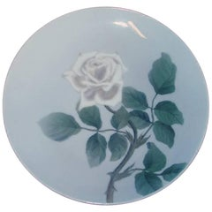 Bing & Grondahl Art Nouveau Wall Plate with Rose #4280/357-20