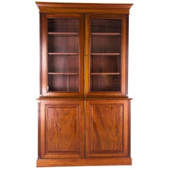 Antique Bookcase, Walnut Display Case, Victorian, Scotland 1870, B776 REDUCED