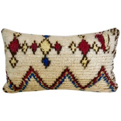 Custom Moroccan Pillow cut from a Vintage Hand Loomed Azilal Berber Rug