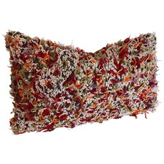 Custom Pillow cut from a Vintage Moroccan Hand Loomed Wool Berber Rug.