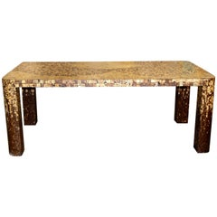 Bamboo and Shell Dining Table