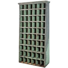 Tall Apple Green General Store Cubby Vintage Hardware