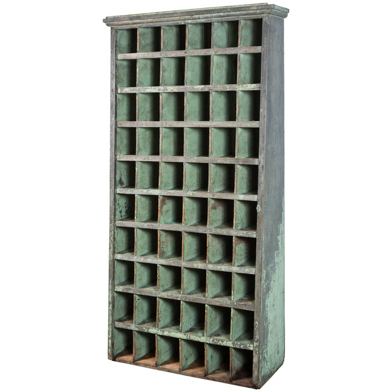Tall Apple Green General Store Cubby Vintage Hardware 1