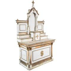 Early 20th Century Wood Church Folk Art Altar