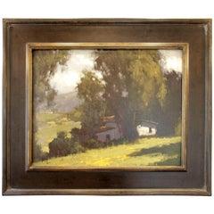 Brian Blood California Impressionist Worker's Cabin, 2013
