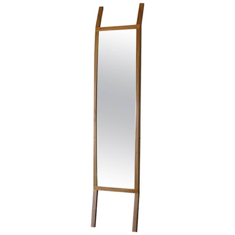 Modern Full Length Rift Hardwood Mirror