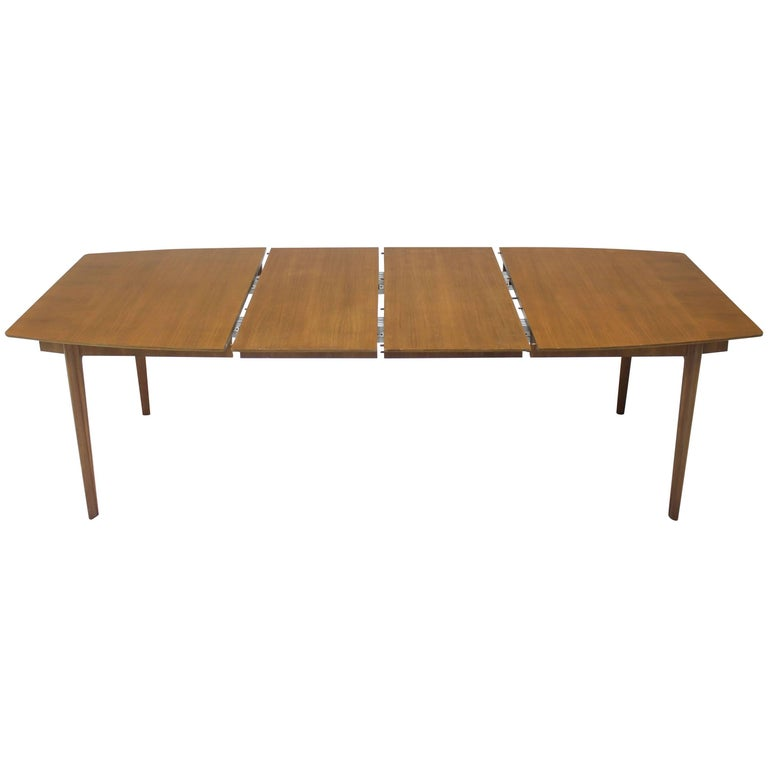 Widdicomb Walnut Dining Table w/ Two Extension Boards Leaves