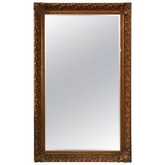 LaBarge Ornate Gold Giltwood Full Length Floor Mirror Seven Feet Tall