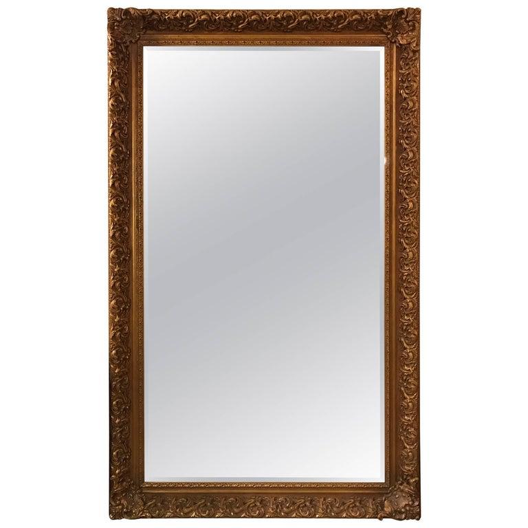 LaBarge Ornate Gold Giltwood Full Length Floor Mirror Seven Feet ...