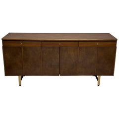 Fully Restored Irwin Collection Mahogany and Leather Credenza by Paul McCobb