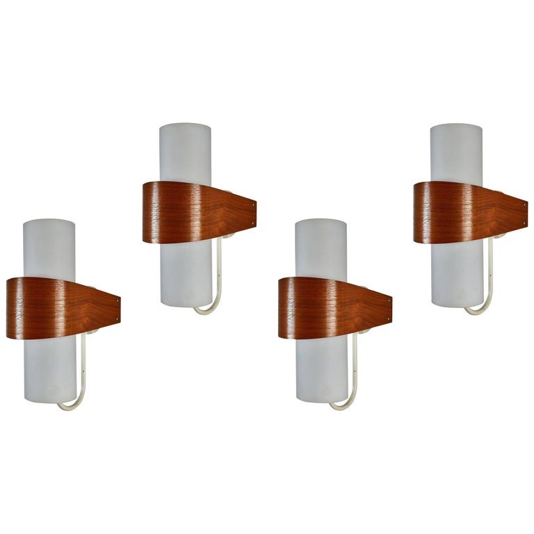 Four NX40 Wall Lights by Louis Christaan Kalff for Phillips  1