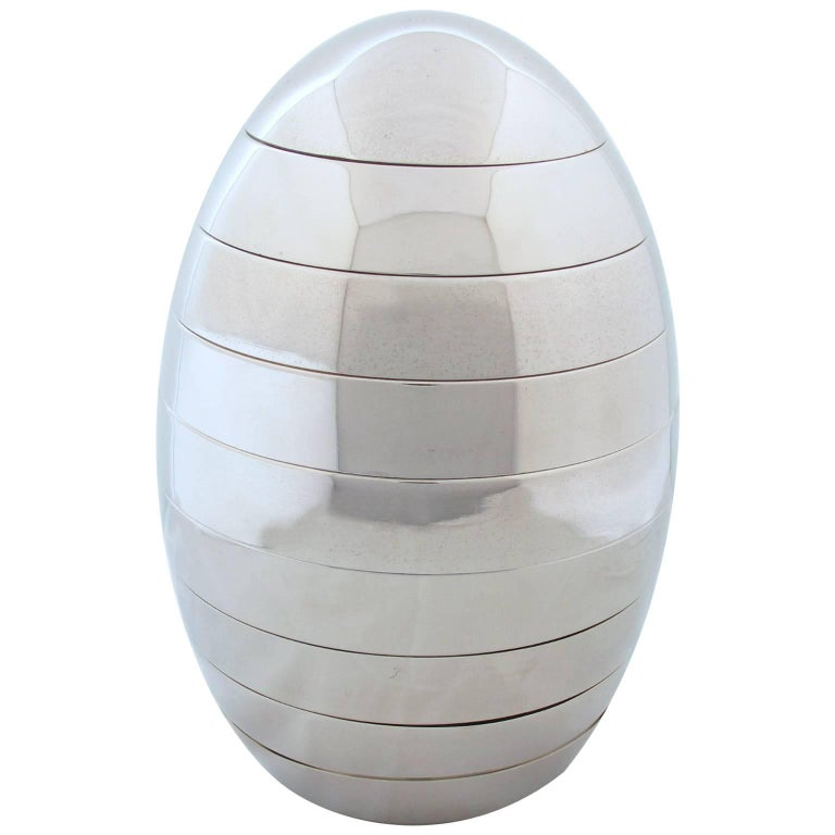Tommaso Barbi Italy Space Age Egg Sculpture Stacking Serving Tray or Bowl