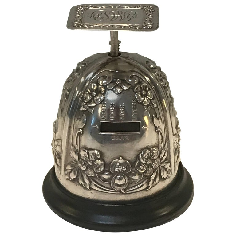 Gorham Sterling Table Top Postal Scale, 1906