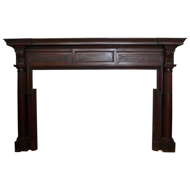 Mahogany Fireplace Mantel