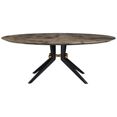 Trocadero Lacquered Goatskin Dining Table
