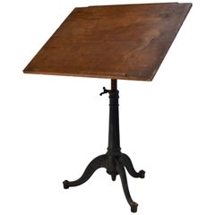 Drafting Table with Cast Iron Adjustable Base