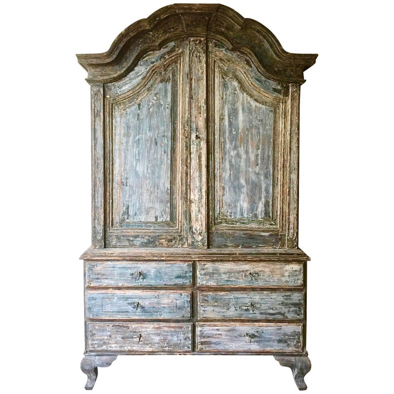 18th Century Swedish Period Rococo Cabinet For Sale