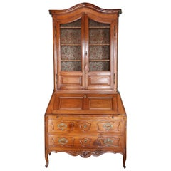 18th Century Louis XV Provincial Walnut Secretaire