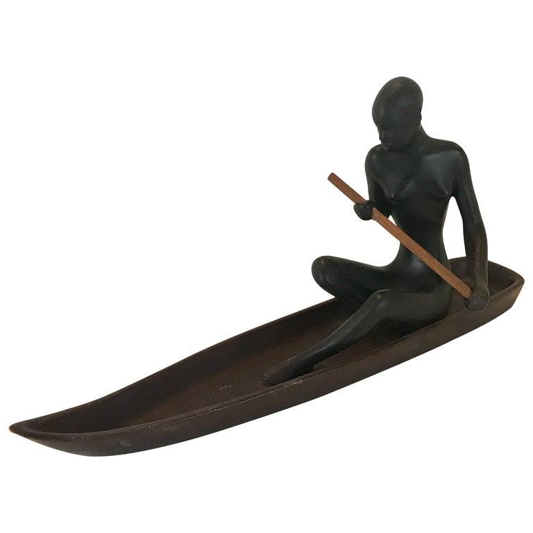 Hagenauer Style Nubian Sculpture, by Gmundner Keramik For Sale