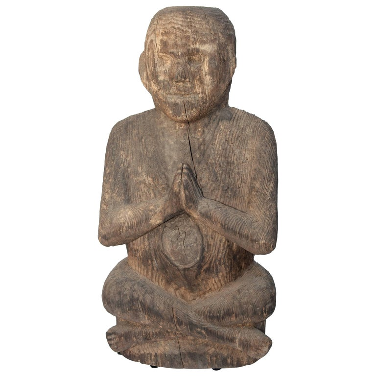 Tribal Statue Shaman Figure from Accham, West Nepal, Early to Mid-20th Century