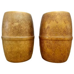 Moroccan Style Metal Stools or Side Tables