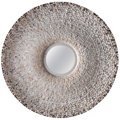 Round Mirror, White Shell and Convex Mirror, Etienne de Souza