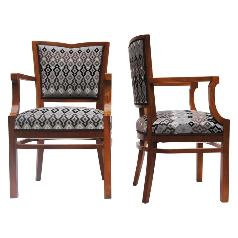 Pair of Art Deco Arm-chairs, Period: 1920-1929, Completely restored