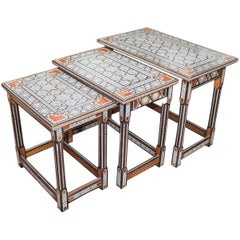 Set of Moroccan Style Inlay Nest of Tables