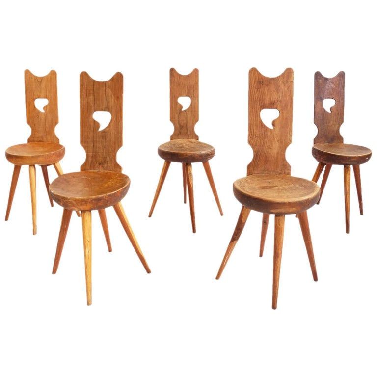 St. Moritz Lovely Carved Wood Chairs