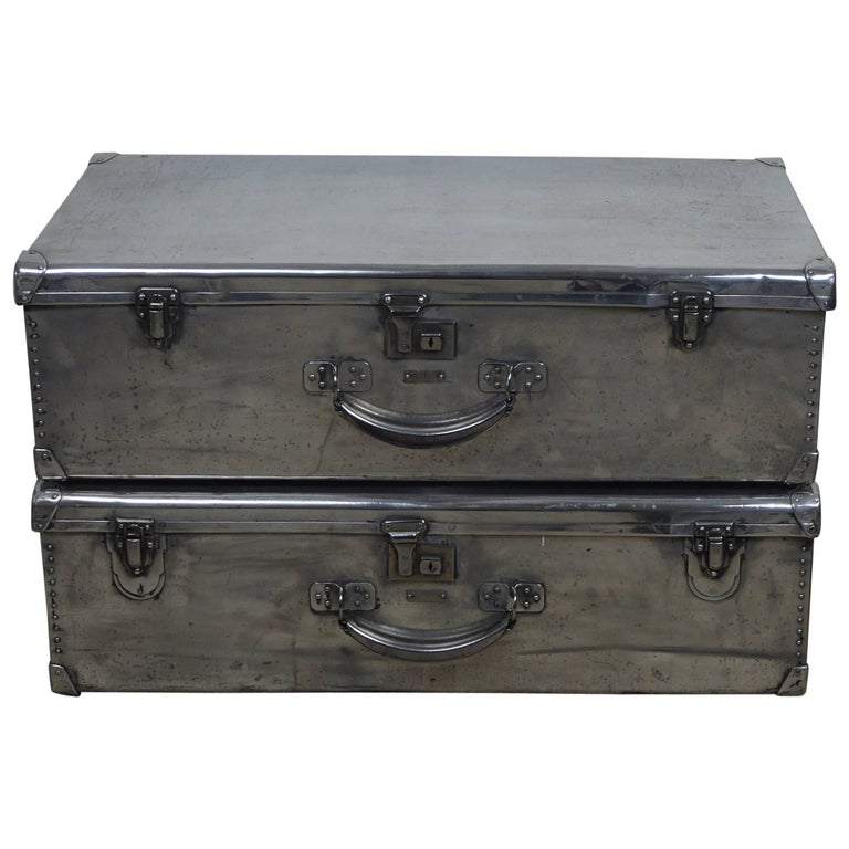 Polished Aluminium Trunk Coffee Table, English 1940s For