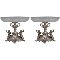 Silver Historicism Pair of Centrepieces by Bruckmann and Sons, Germany