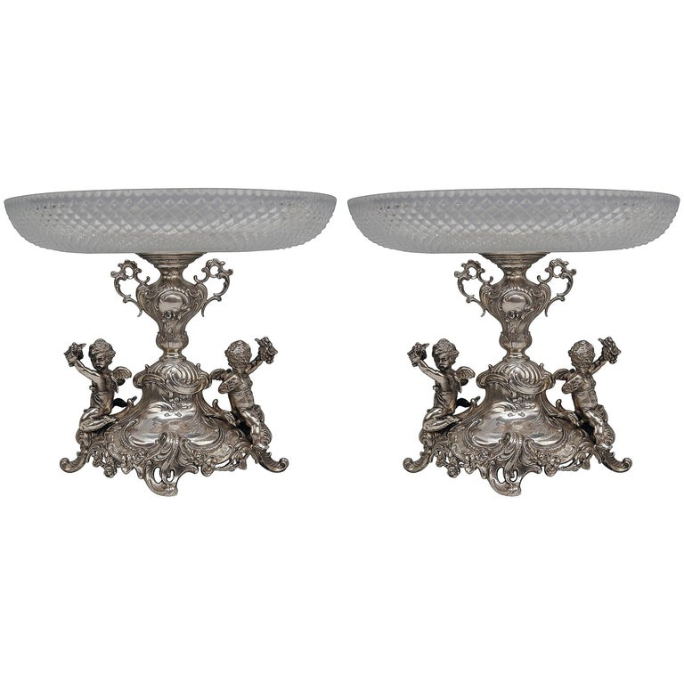 Silver Historicism Pair of Centrepieces by Bruckmann and Sons, Germany For Sale