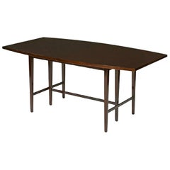 Paul McCobb Ebonized Dining Table with Two Leaves