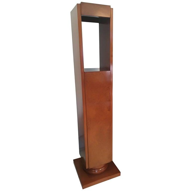 Art Deco Amboyna Burl Pedestal Circa 1930 For Sale
