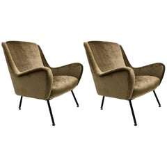 Pair of Italian Armchairs, 1960