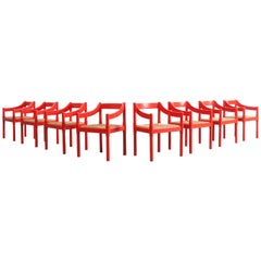 Set of eight 'Carimate' chairs by Vico Magistretti