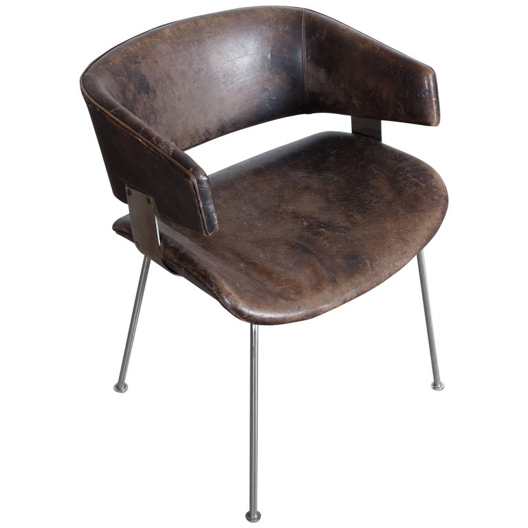 Patinated armchair by Geoffrey Harcourt for Artifort