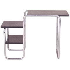 Completely restored funkcionalism Chrome small Writing Desk, Thonet 1930-1939