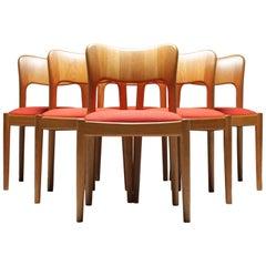 """Midcentury """"Ole"""" Dining Chairs by John Mortensen for Hornslet Danish"""
