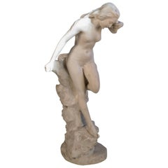 A LARGE DECORATIVE COMPOSOITE FIGURES Of a nude