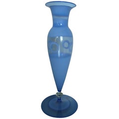 small light blue vase