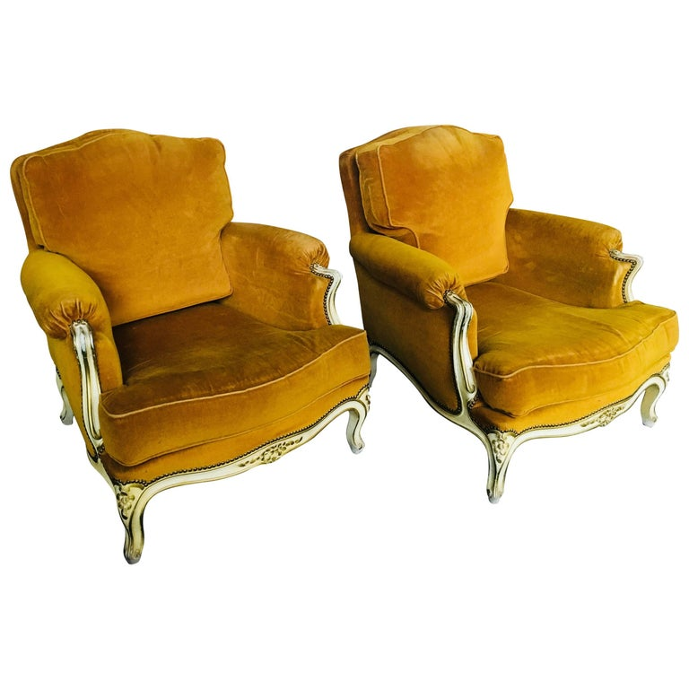 19th Century Pair of French Bergeres in Louis XV Style