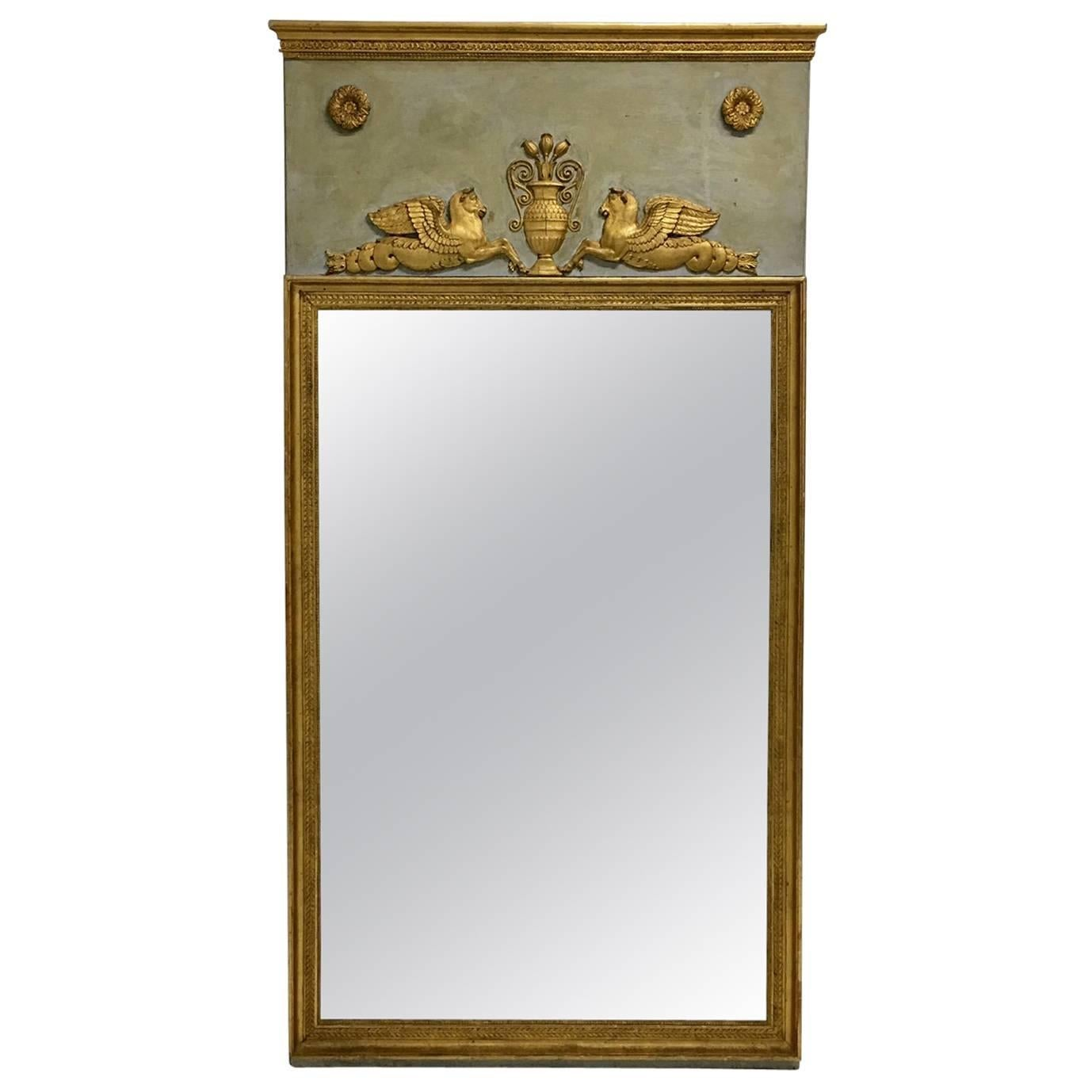 French Empire Period Trumeau Mirror